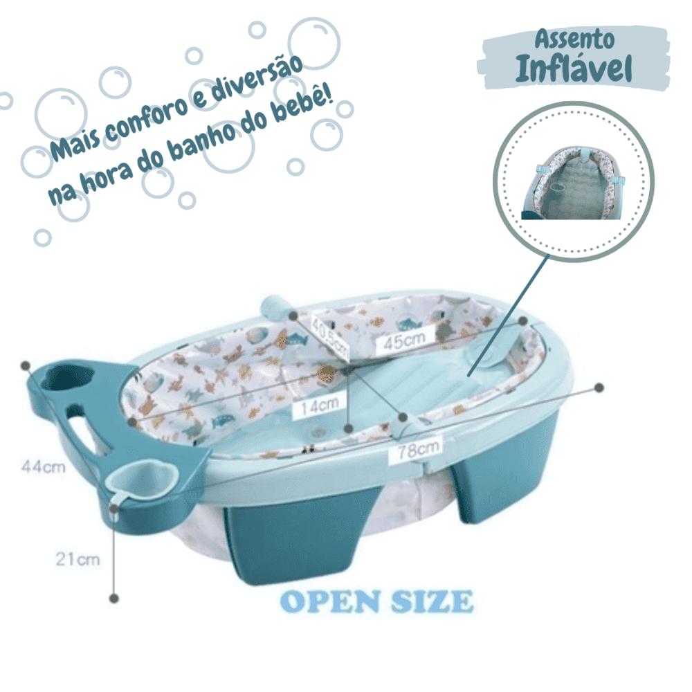 Banheira Para Bebê Dobrável Inflável Portátil Color Baby
