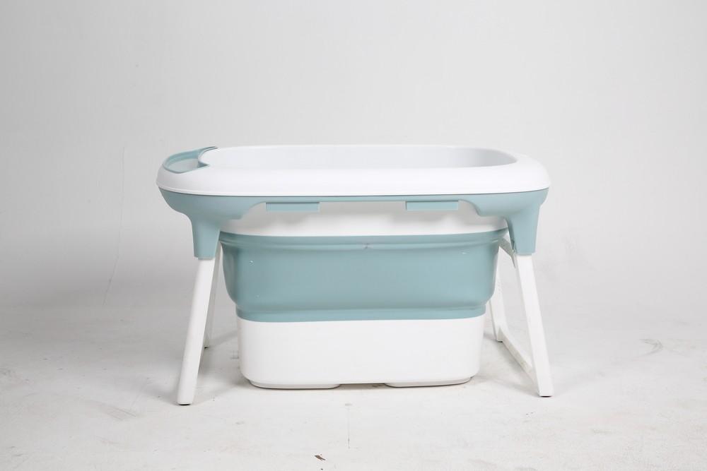 Banheira Para Bebê Dobrável Portátil Azul Baby Pil Média