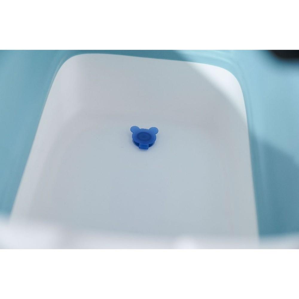 Banheira Para Bebê Dobrável Portátil Baby Pil Grande Azul  - Encanto Baby