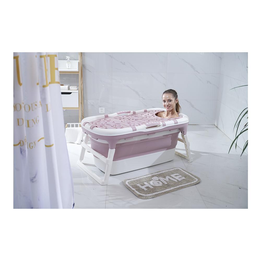 Banheira Para Bebê Dobrável Portátil Baby Pil Grande Rosa  - Encanto Baby