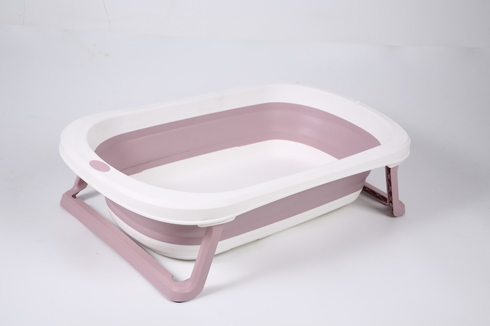 Banheira Para Bebê Dobrável Portátil Rosa Baby Pil Pequena