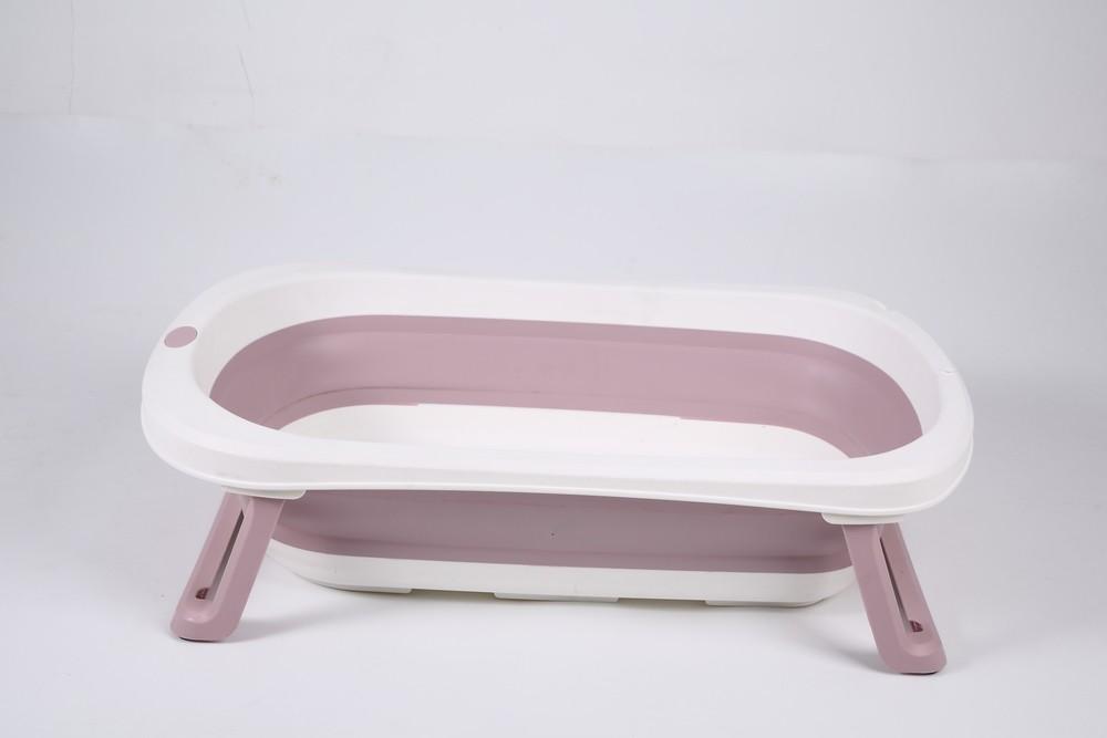 Banheira Para Bebê Dobrável Portátil Rosa Baby Pil Pequena  - Encanto Baby