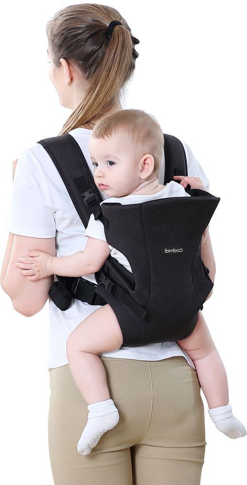 Bebê Canguru Ibimboo Tecido 3 Em 1 Preto  - Encanto Baby