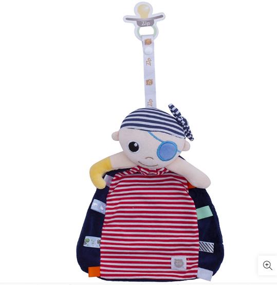 Bebê Naninha Tags Pelúcia Prendedor Chupeta Pirata  - Encanto Baby