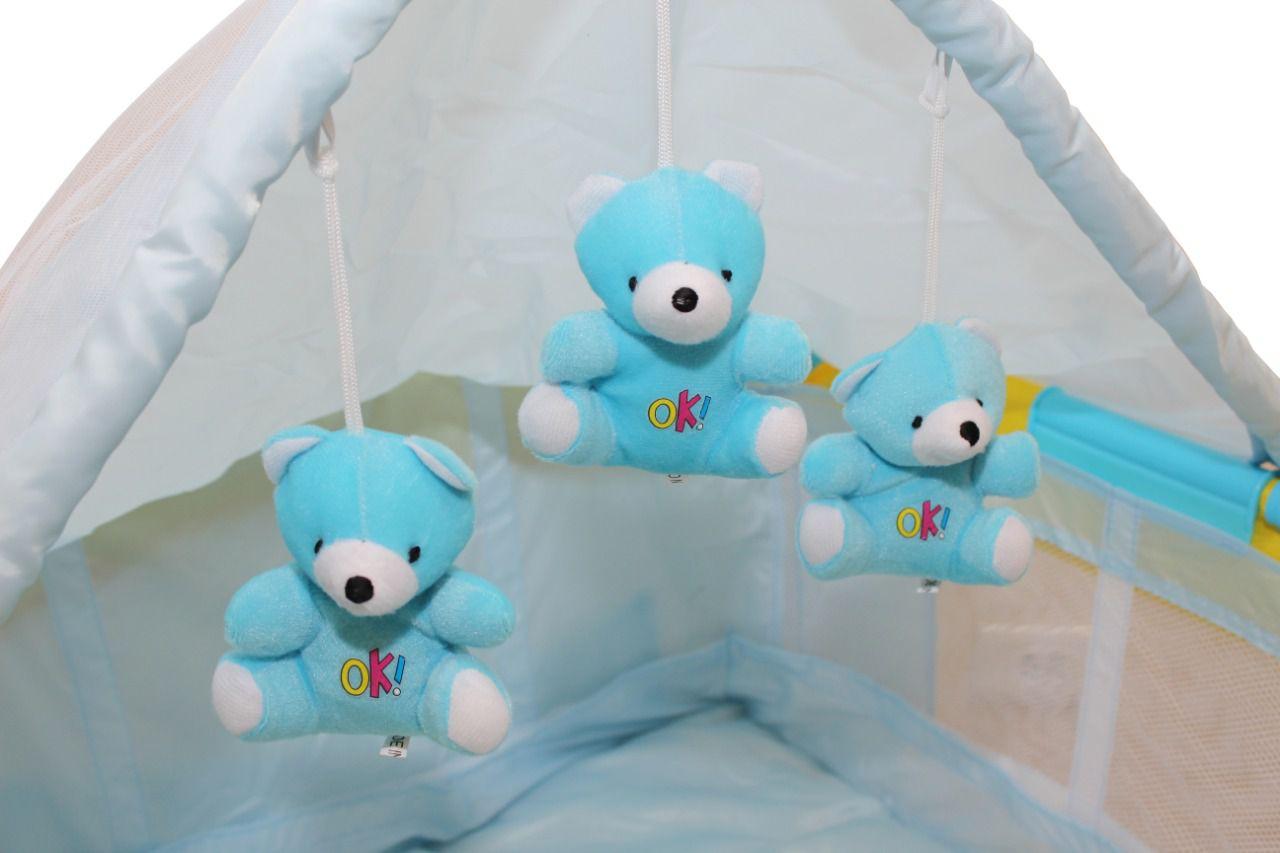 Berço Cercado Para Bebê Musical Vibratório Trocador Dream  - Encanto Baby