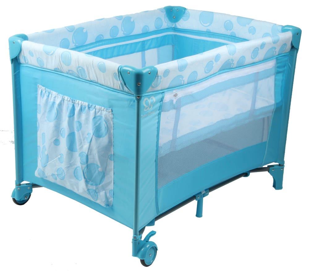Berço Cercado Portátil Azul Eco Com Mosquiteiro Color Baby