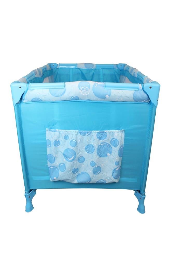 Berço Cercado Portátil Azul Eco Com Mosquiteiro Color Baby  - Encanto Baby