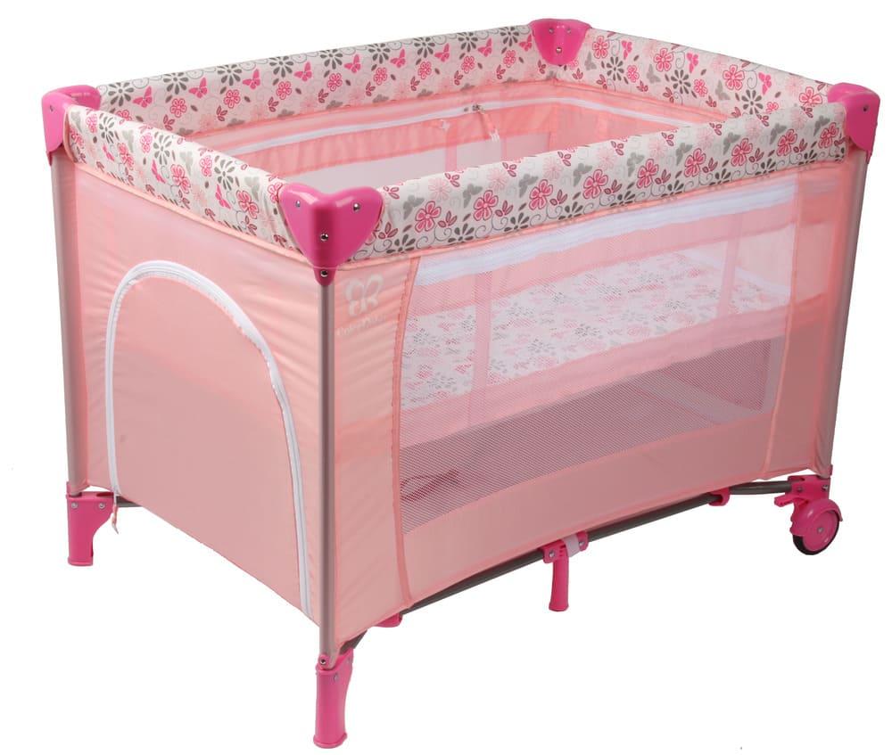 Berço Cercado Portátil Rosa Eco Com Mosquiteiro Color Baby