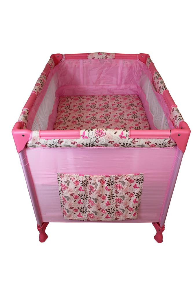 Berço Cercado Portátil Rosa Eco Com Mosquiteiro Color Baby  - Encanto Baby