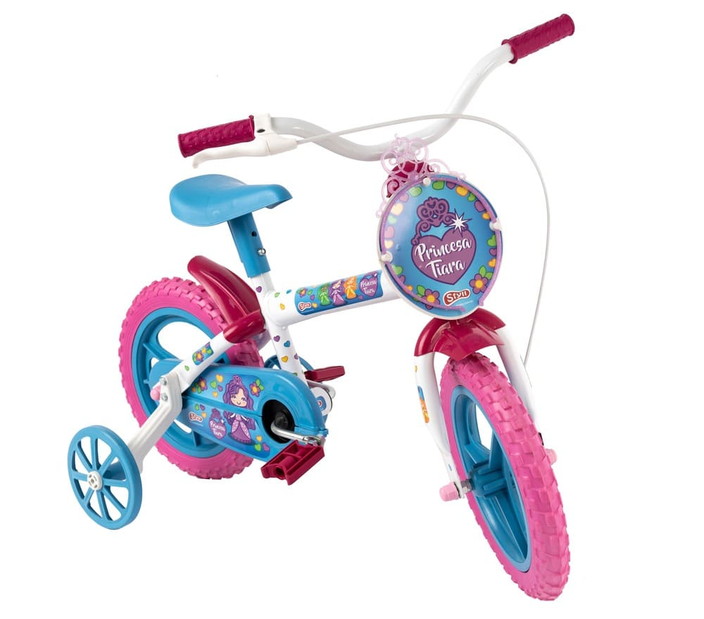 Bicicleta Infantil Aro 12 Princesinha Tiara Styll Kids