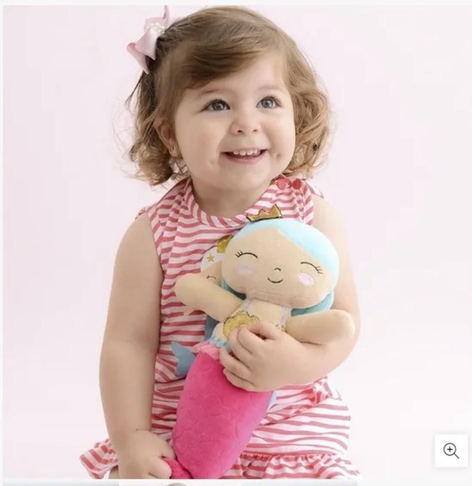 Boneca Bonequinha Pelúcia Sereia Zip Toys  - Encanto Baby