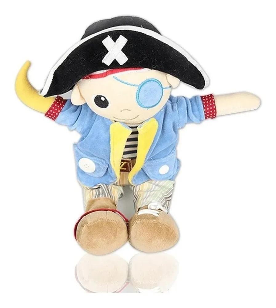 Boneco Bonequinho Pelúcia Pirata Zip Toys