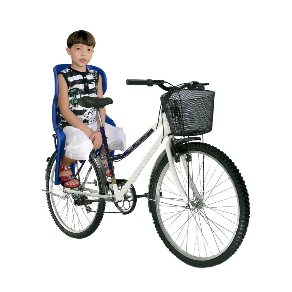 Cadeira Carona Traseira Bicicleta Azul Bic  - Encanto Baby