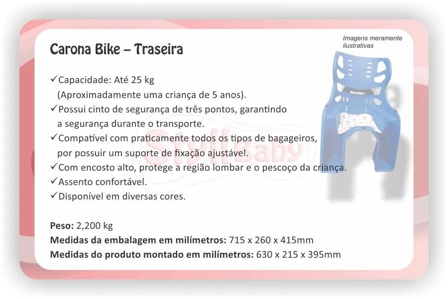 Cadeirinha carona bike para Bicicleta Traseira Azul Bic  - Encanto Baby