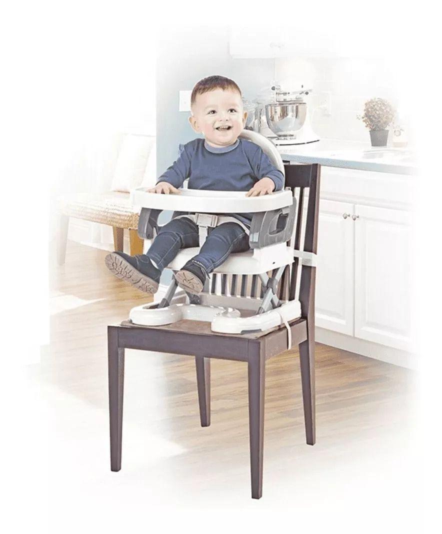Cadeira De Alimentação Portátil Premium Cinza Mastela