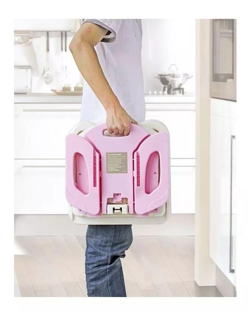 Cadeira De Alimentação Portátil Premium Rosa Mastela  - Encanto Baby