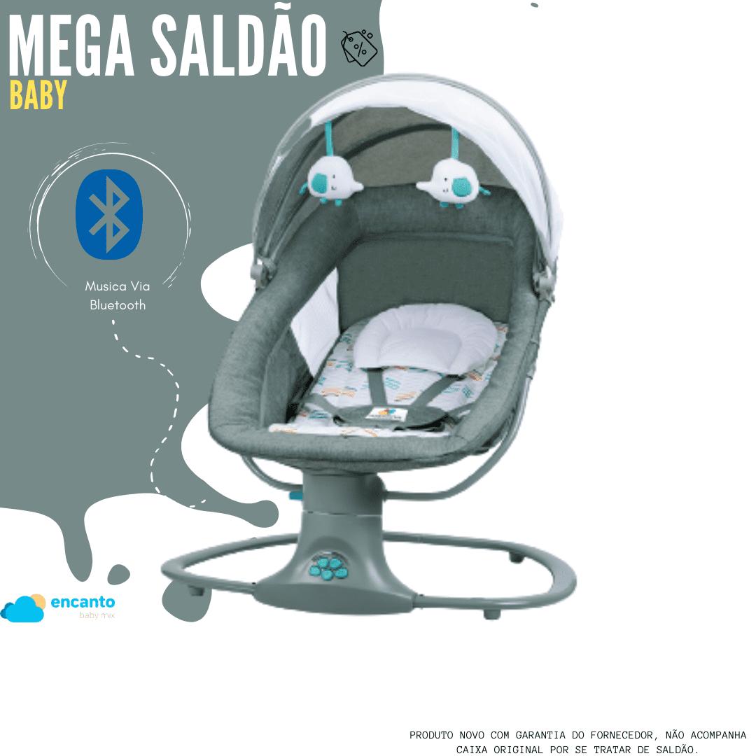 Cadeira De Balanço Automático Musical Com Bluetooth até 18kg 3 Em 1 Mastela