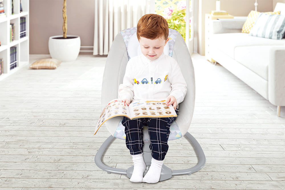 Cadeira De Balanço Automático Musical Com Bluetooth até 18kg 3 Em 1 Mastela Light Cinza  - Encanto Baby