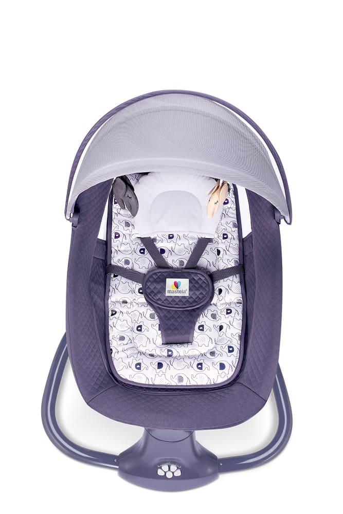 Cadeira De Balanço Automático Musical Com Bluetooth até 18kg 3 Em 1 Mastela Premium Cinza  - Encanto Baby