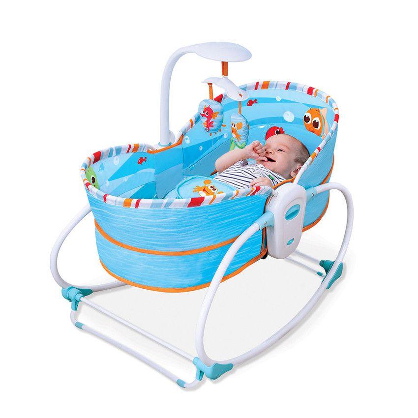 Cadeira De Balanço E Descanso Moisés Mastela 5 Em 1 Azul