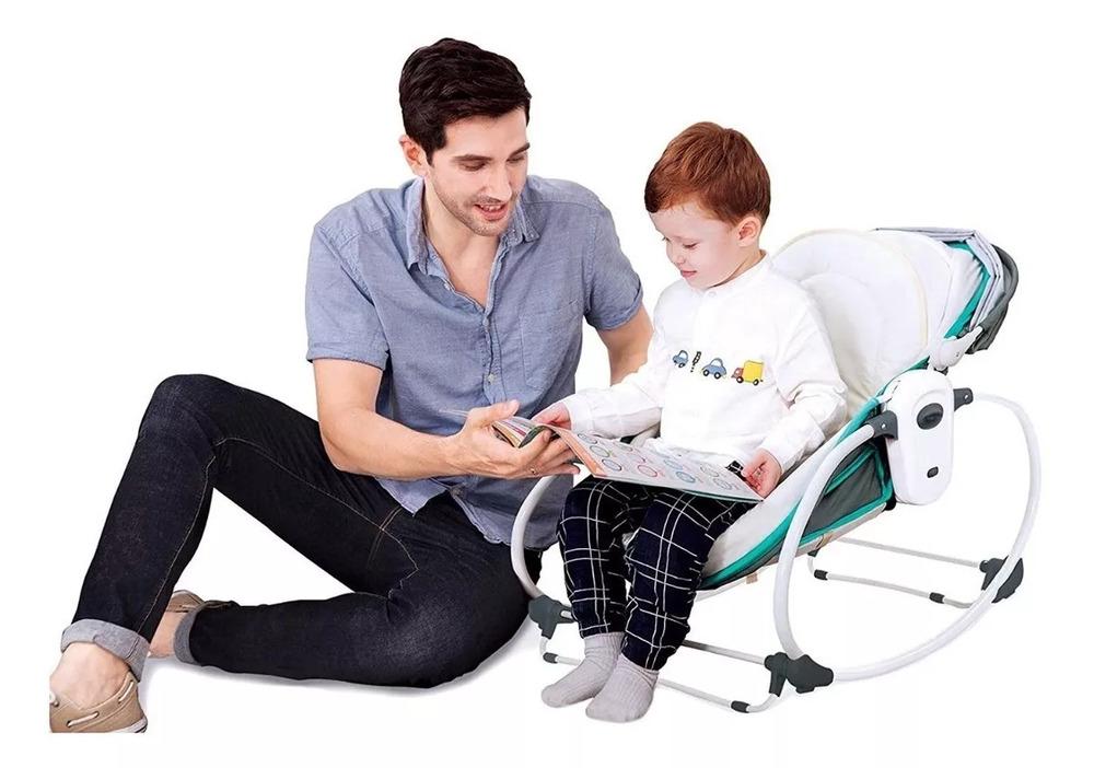 Cadeira De Balanço E Descanso Moisés Mastela 5 Em 1 Verde  - Encanto Baby