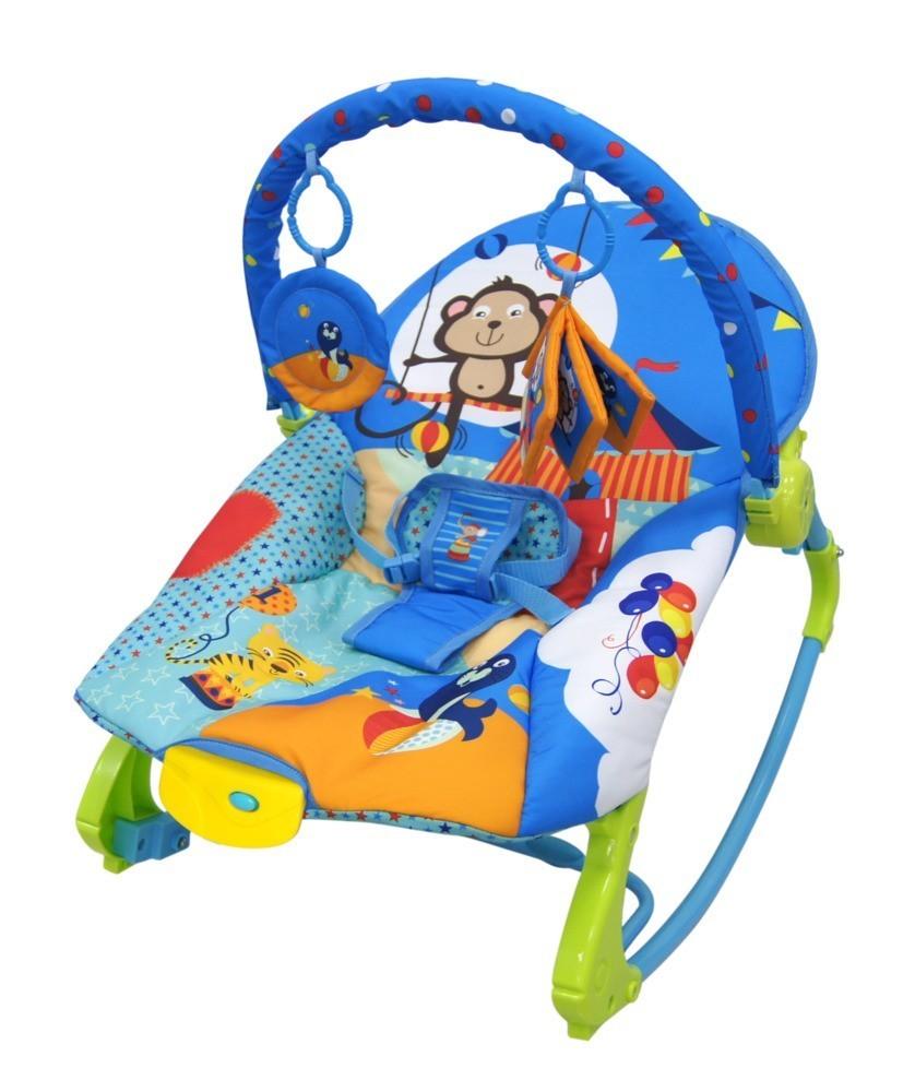 Cadeira De Balanço Musical E Vibratória Color Baby 18kg Azul