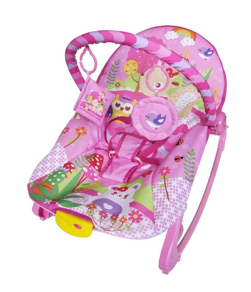 Cadeira De Balanço Musical E Vibratória Color Baby 18kg Rosa