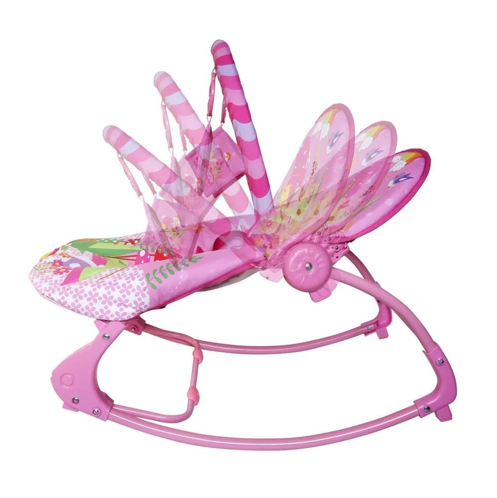 Cadeira De Balanço Musical E Vibratória Color Baby 18kg Rosa  - Encanto Baby