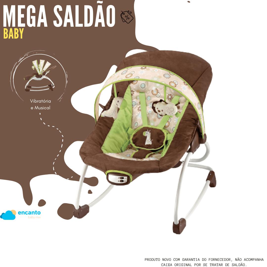 Cadeira De Descanço Roker Marrom 18kg  Mastela  - Encanto Baby