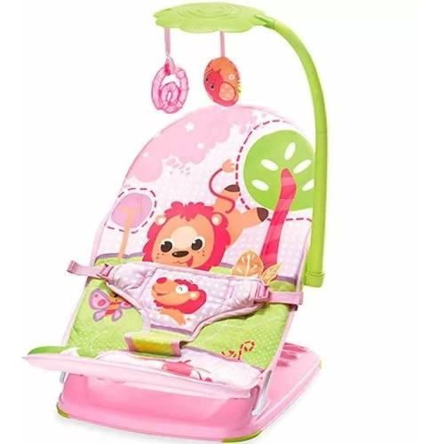 Cadeira De Descanso Colorida Leãozinho Com Móbile  - Encanto Baby