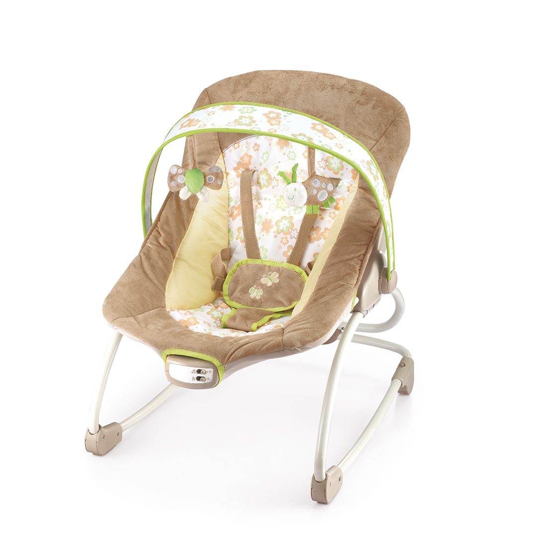 Cadeira De Descanso E Balanço Mastela Até 18kg - Marrom  - Encanto Baby