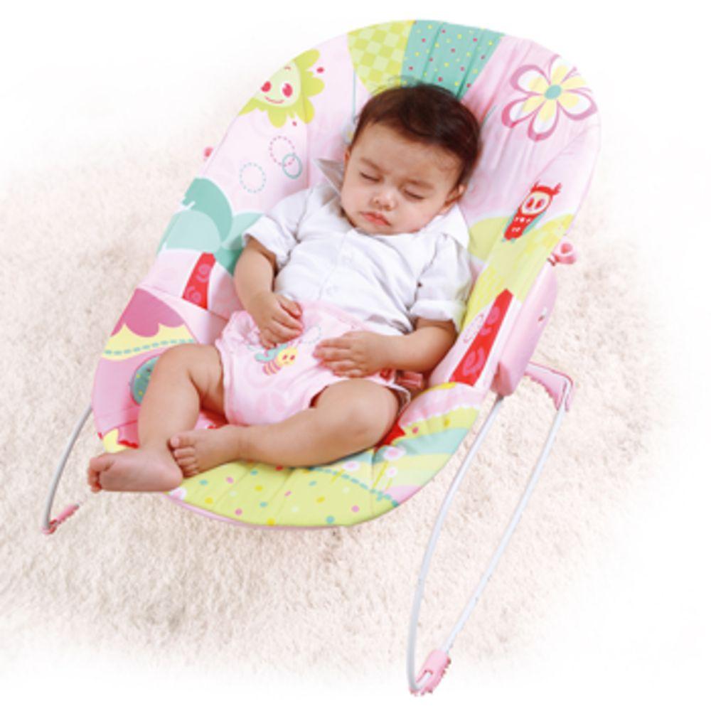 Cadeira De Descanso Mastela Rosa Jardim - Função Vibratória  - Encanto Baby