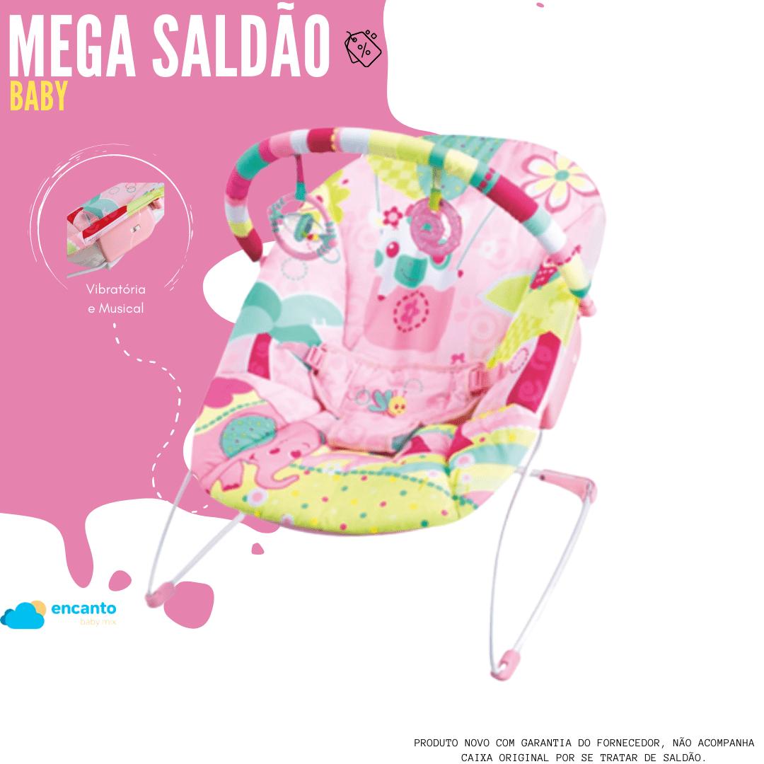 Cadeira De Descanso Mastela Rosa Jardim - Função Vibratória