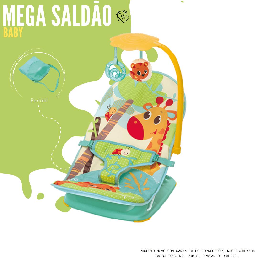 Cadeira De Descanso Musical E Vibratória Leão 11kg Mastela - Verde
