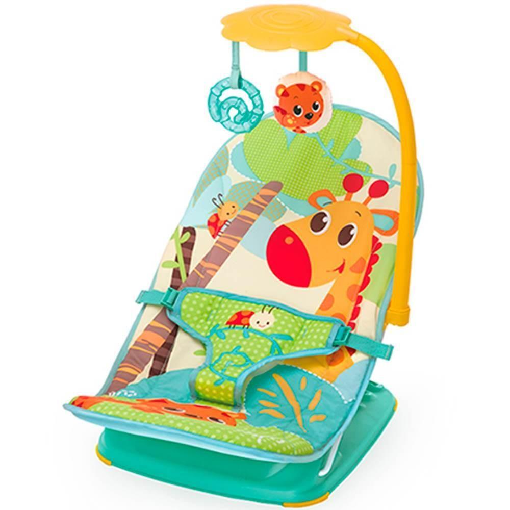 Cadeira De Descanso Musical E Vibratória Leão 11kg Mastela - Verde  - Encanto Baby