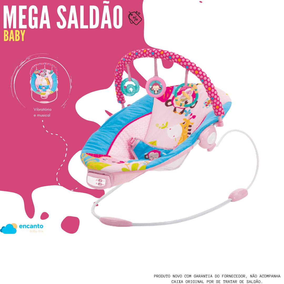 Cadeira De Descanso Musical Vibratória Sunset Mastela Rosa