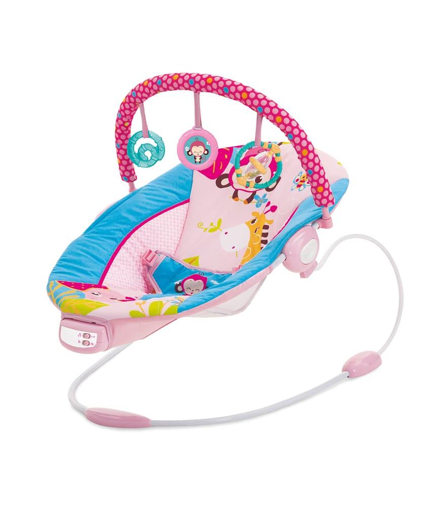 Cadeira De Descanso Musical Vibratória Sunset Mastela Rosa  - Encanto Baby
