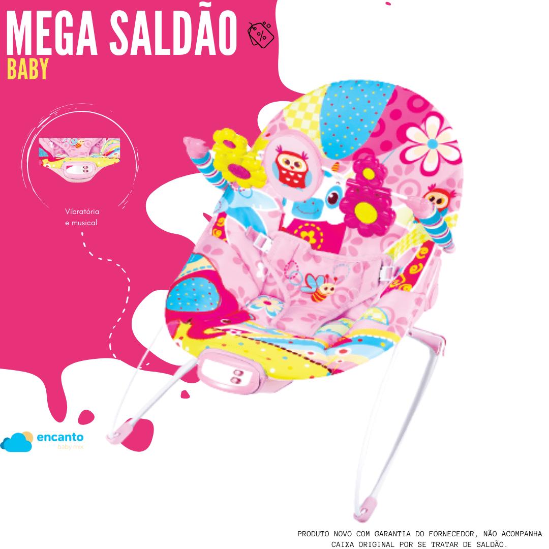 Cadeira Vibratória De Descanso E Musical Sinfonia Coruja Pink Mastela