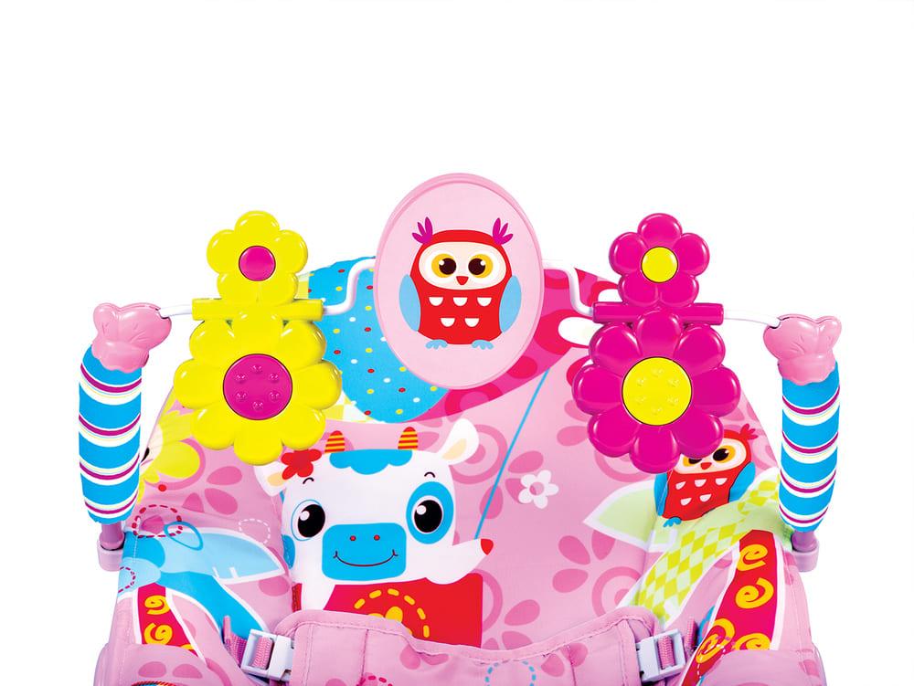 Cadeira Vibratória De Descanso E Musical Sinfonia Coruja Pink Mastela  - Encanto Baby