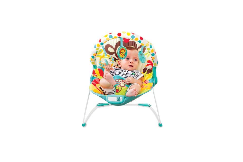 Cadeira Vibratória De Descanso E Musical Sinfonia Macaco Mastela  - Encanto Baby