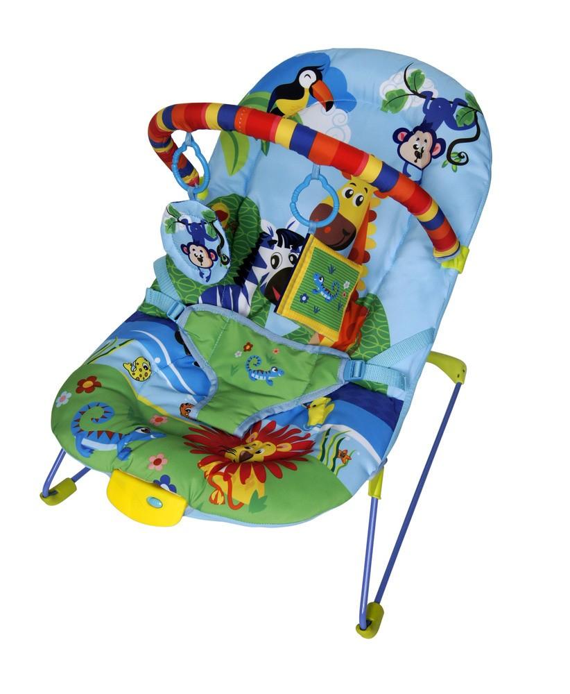 Cadeirinha De Descanso Musical E Vibratória Color Baby Azul