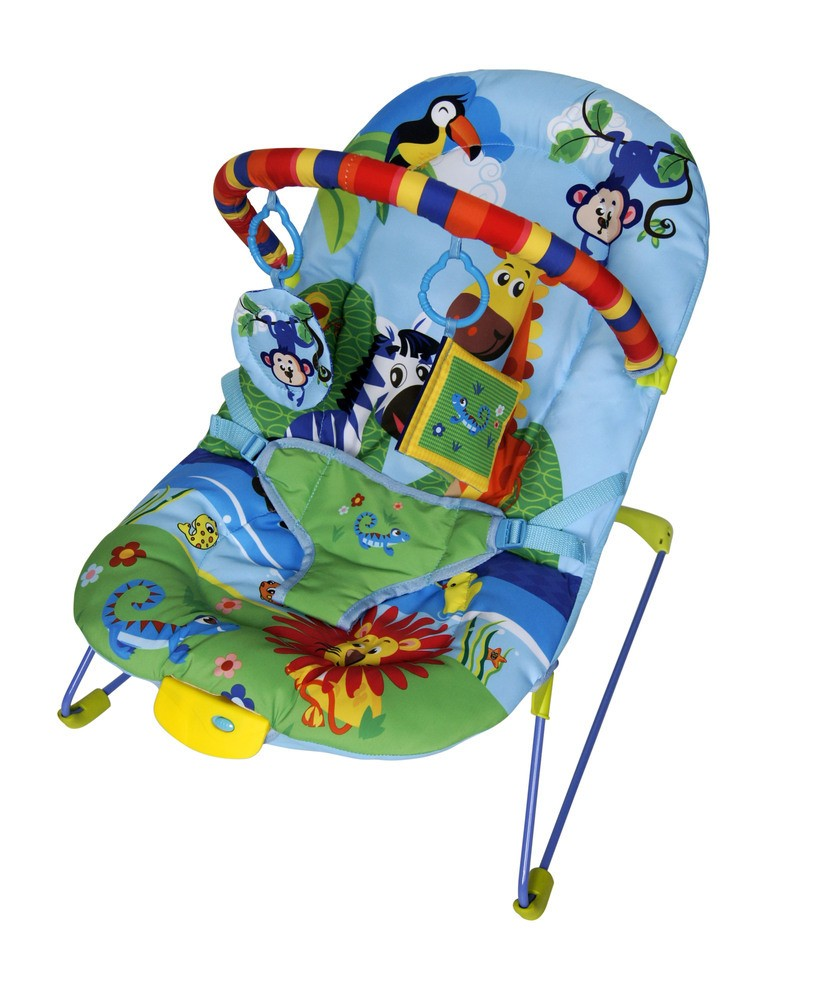 Cadeirinha De Descanso Musical E Vibratória Color Baby Azul  - Encanto Baby
