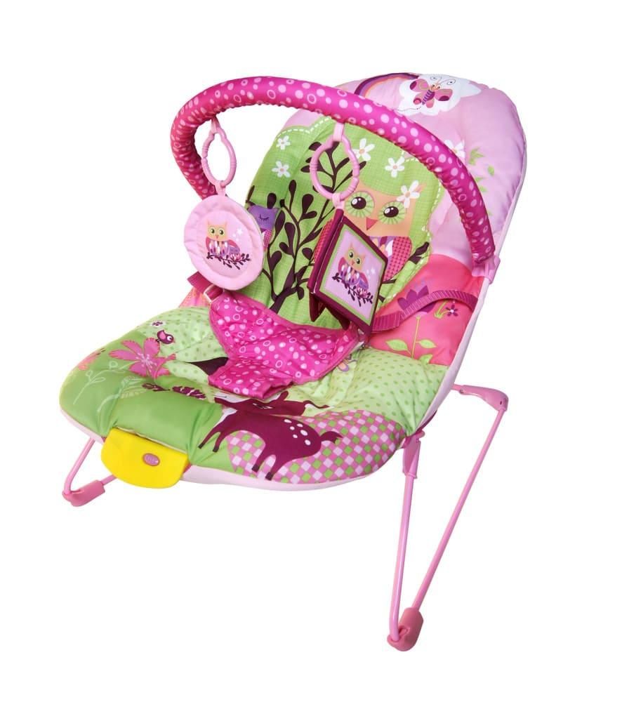 Cadeirinha De Descanso Musical E Vibratória Color Baby Rosa