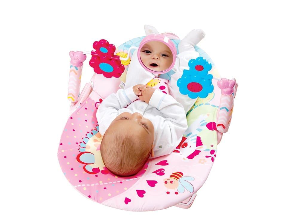 Cadeirinha De Descanso Vibratória Mastela Rosa  - Encanto Baby