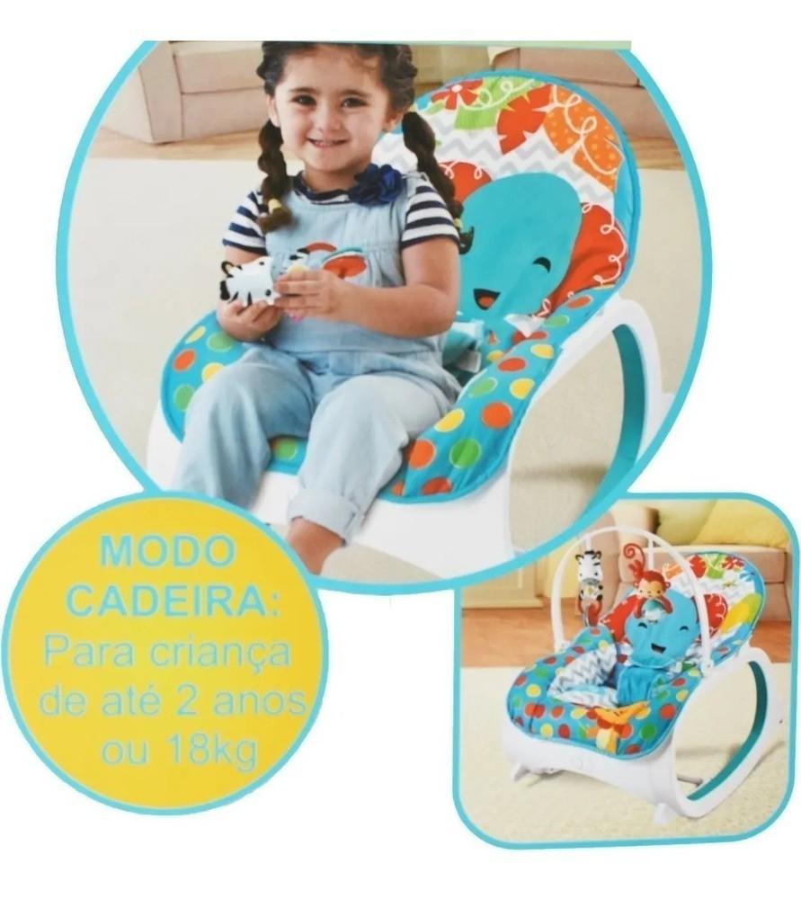 Cadeirinha Musical De Balanço/descanso Vibratória Color Baby  - Encanto Baby