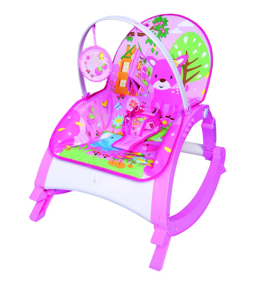 Cadeirinha Musical De Descanso Vibratória Rosa Color Baby