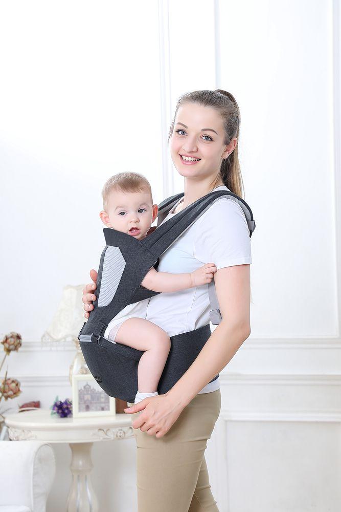 Canguru Ergonômico Ibimboo Para Bebês 5 em 1 Cinza Escuro  - Encanto Baby