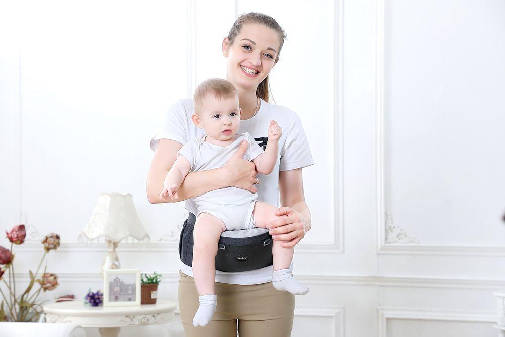 Canguru Ergonômico Ibimboo Para Bebês 5 em 1 Preto  - Encanto Baby