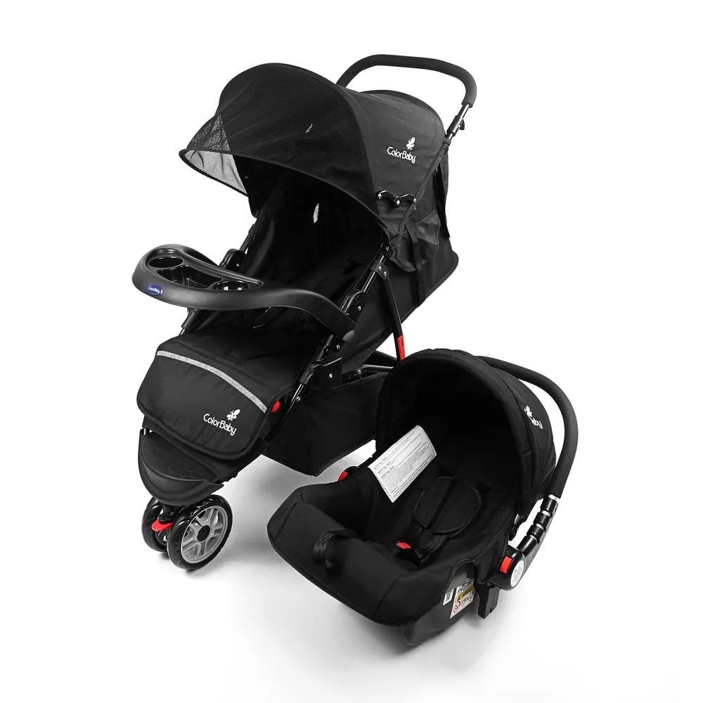 Carrinho de Bebê com Bebê Conforto Safety Color Baby