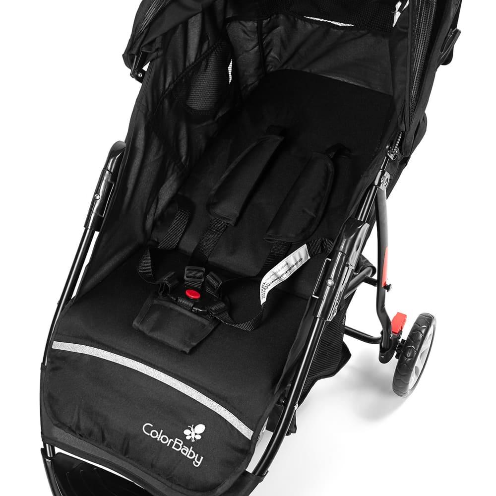 Carrinho de Bebê com Bebê Conforto Safety Color Baby  - Encanto Baby